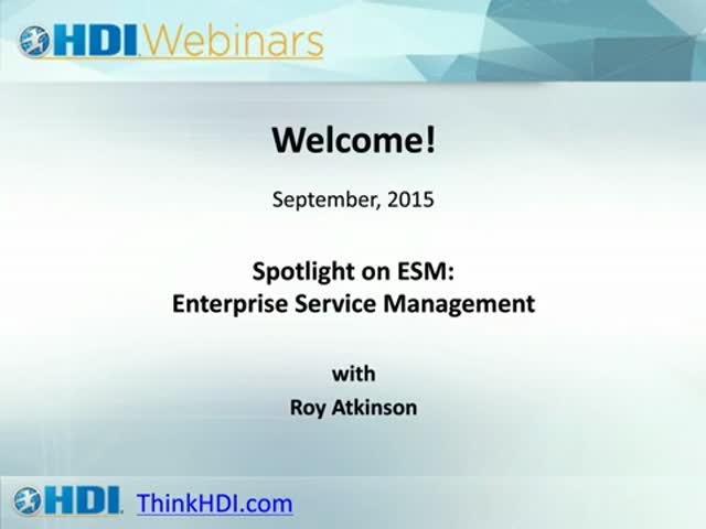 Spotlight on ESM: Enterprise Service Management