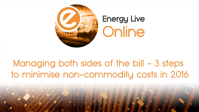 Managing both sides of the bill-3 steps to minimise non-commodity costs in 2016