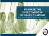 Maximize the Effectiveness of Sales Training