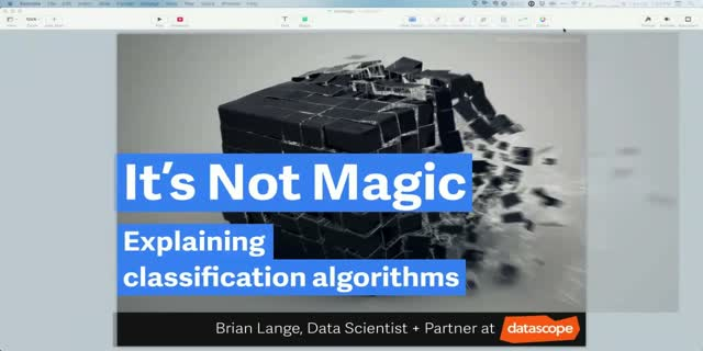 It's Not Magic: Explaining classification algorithms