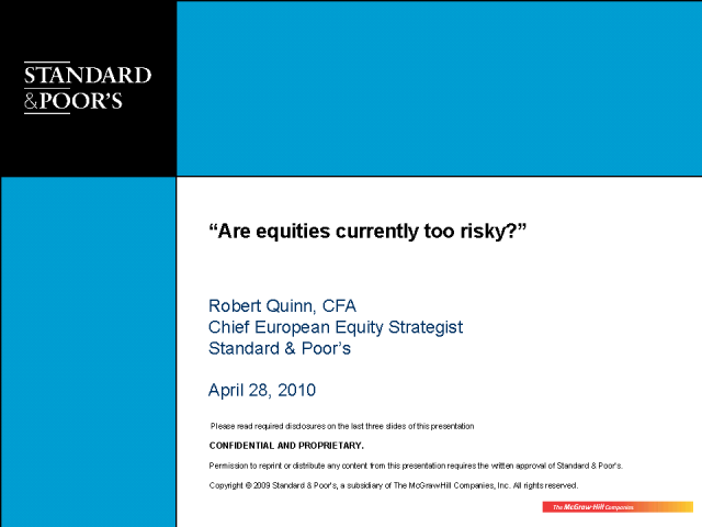 Are Equities Currently Too Risky?