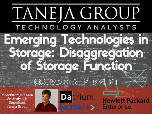 Emerging Technologies in Storage: Disaggregation of Storage Function