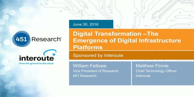 Digital Transformation - The Emergence of Digital Infrastructure Platforms