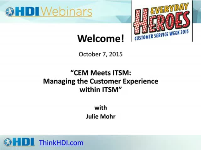 CEM Meets ITSM: A Customer Service Week Event