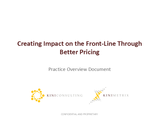 Creating Profit Impact Through Improved Pricing Capabilities