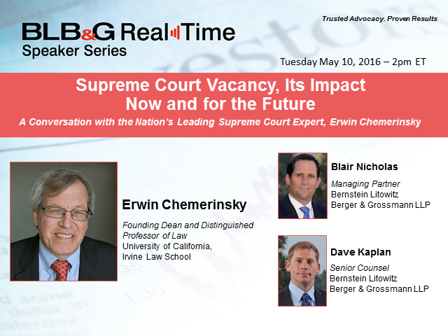 Supreme Court Vacancy, Its Impact Now and for the Future