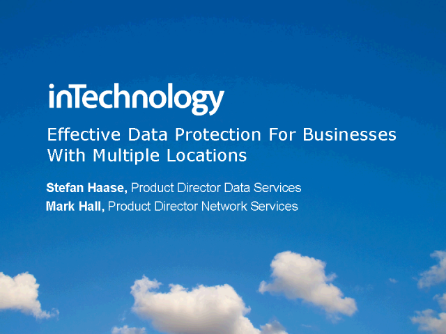 Effective Data Protection for businesses with multiple locations