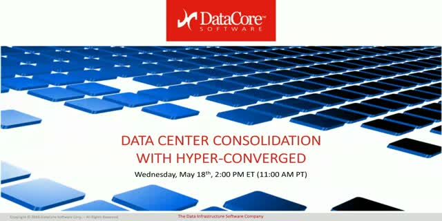 Data Center Consolidation and Simplification with Hyper-converged