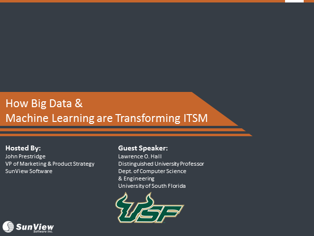 How Big Data and Machine Learning are Transforming ITSM