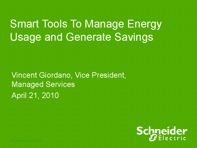 Smart Tools To Manage Energy Usage and Generate Savings