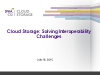 Cloud Storage: Solving Interoperability Challenges