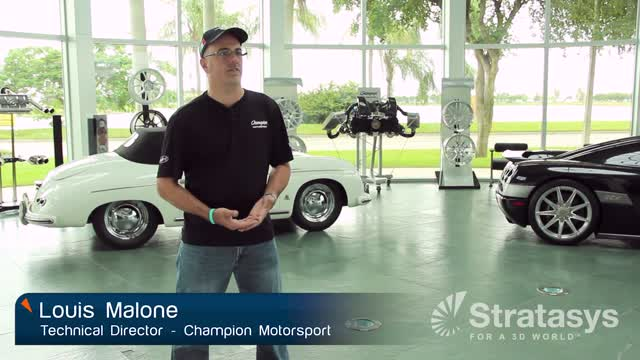 Cost and time savings for Champion Motorsport with 3D printing