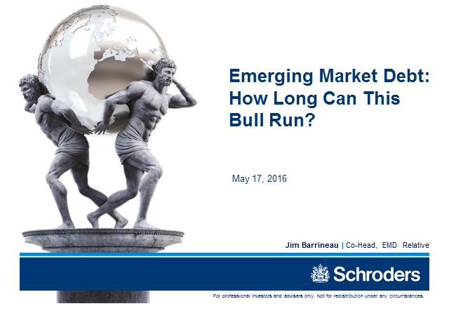 Emerging Market Debt – How Long Can This Bull Run?
