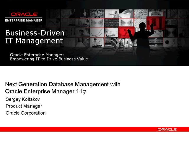 Managing Oracle Database 11g with Oracle Enterprise Manager