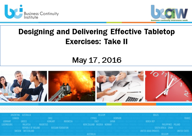 Designing and delivering effective tabletop exercises