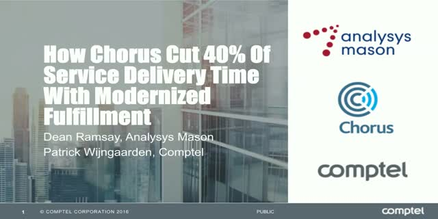 How Chorus Cut 40% Of Service Delivery Time With Modernized Fulfillment
