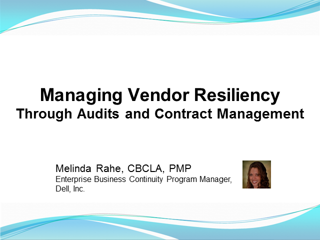 Managing Vendor Resiliency Through Audits and Contract Management