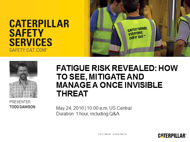Fatigue Risk Revealed: How to see, mitigate and manage a once invisible threat