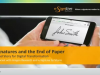 E-Signatures and the End of Paper - The Lead Story for Digital Transformation