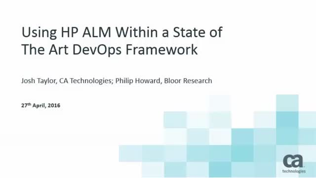 Using HP ALM Within a State of the art DevOps Framework