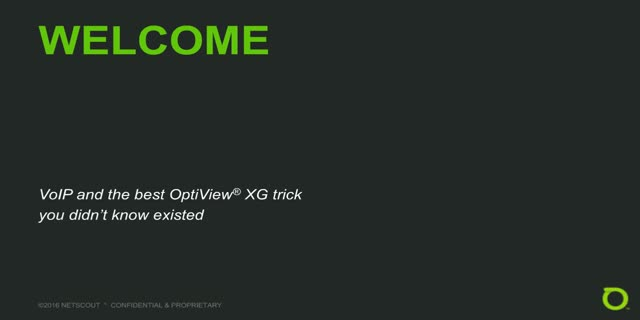 VoIP and the best OptiView XG trick you didn't know existed