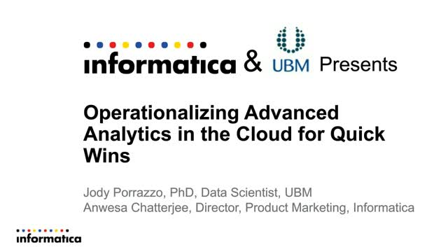 Operationalizing Advanced Analytics on the Cloud for Quick Wins