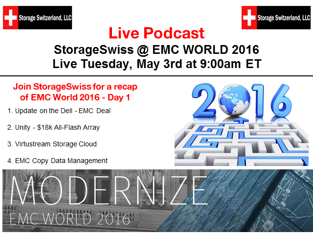Live Podcast - EMC World - Day 1 Recap