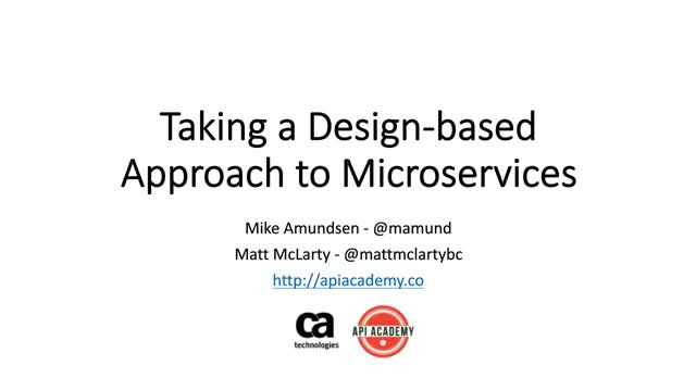 Taking a Design-Based Approach to Microservices