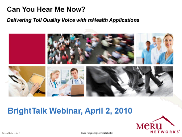Delivering Toll Quality Voice with mHealth Applications