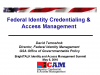 Federal Identity Credentialing and Access Management