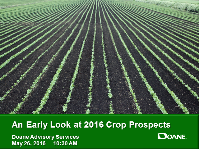 An Early Look at 2016 Crop Prospects (Free Webinar for Doane Clients)