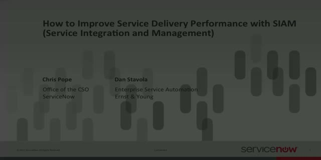 How to Improve Service Delivery Performance with SIAM