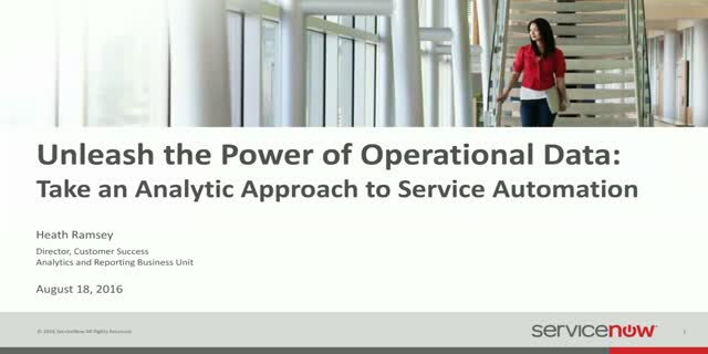 Unleash the Power of Your Operational Data: Take an Analytic Approach to Service