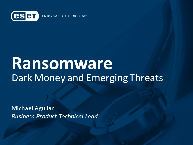 Ransomware: Dark Money and Emerging Threats