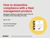 How to Streamline Compliance with a Fleet Management Product