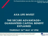 AXA Life Invest's Secure Advantage+ Guaranteed Capital Benefit Explained