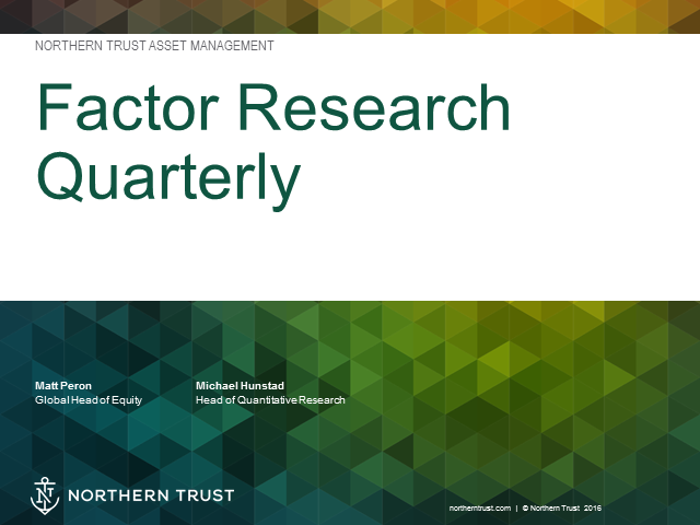 Factor Research Quarterly Webinar
