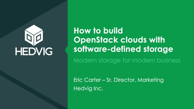 How to Build OpenStack Clouds with Software-Defined Storage