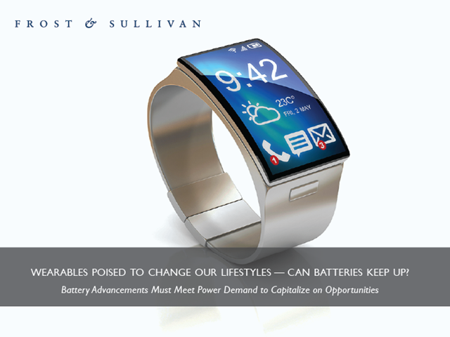 Wearables Poised to Change Our Lifestyles — Can Batteries Keep Up?