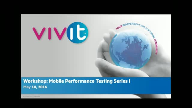 Workshop: Mobile Performance Testing Series I