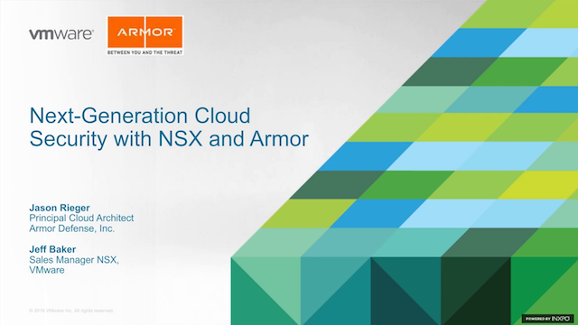 Next-Generation Cloud Security with VMware NSX and Armor