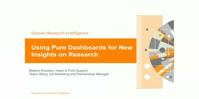 Using Pure Dashboards for New Insights on Research