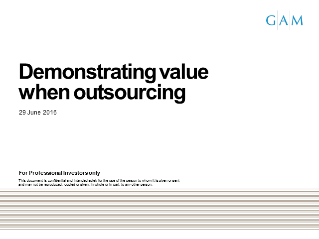 Demonstrating value when outsourcing