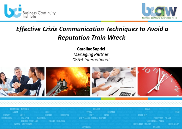 Effective crisis communication techniques to avoid a reputation train wreck