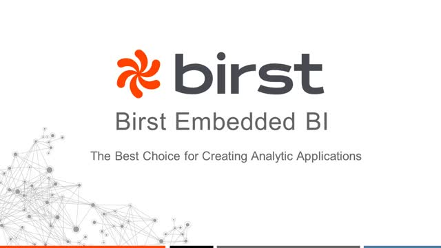 Birst Embedded Analytics Demonstration