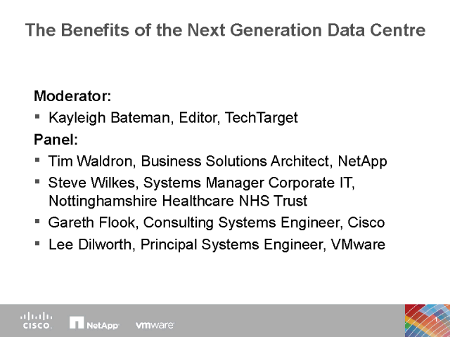 Benefits of the Next Generation Dynamic Data Center
