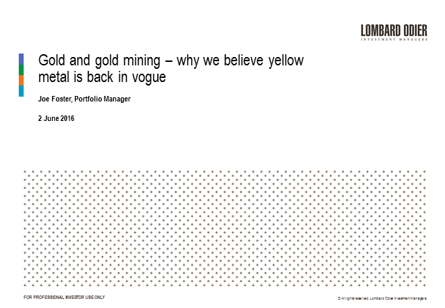 In the search for diversification – why yellow metal is back in vogue