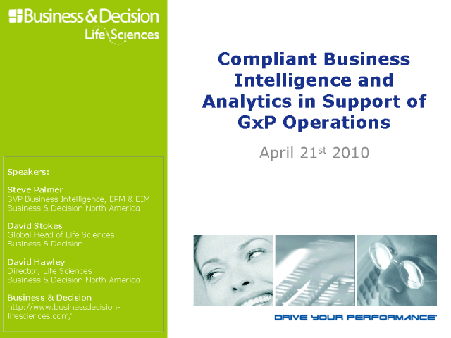 Compliant Business Intelligence and Analytics