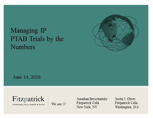 PTAB Trials by the Numbers