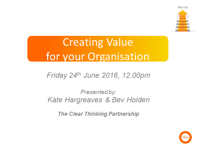 Creating value for your organisation
